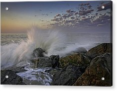 Cape May High Tide Acrylic Print