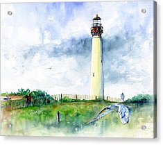 Cape May Lighthouse Acrylic Print by John D Benson