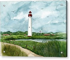Cape May Lighthouse Acrylic Print by Nancy Patterson