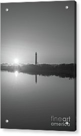 Cape May Reflections Bw Acrylic Print