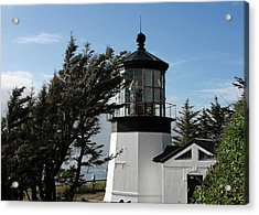 Cape Meares Lighthouse Near Tillamook On The Scenic Oregon Coast Acrylic Print by Christine Till