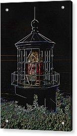Cape Meares Neon Lighthouse Acrylic Print by Thom Zehrfeld