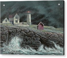 Cape Neddick Light Acrylic Print by Paul Breeden