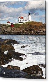 Cape Neddick Lighthouse Acrylic Print by Bryan Attewell