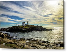 Cape Neddick Lighthouse Acrylic Print by Sherman Perry