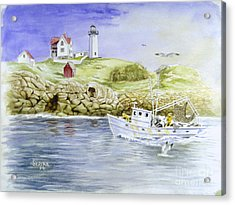 Cape Neddick Lighthouse Acrylic Print by Stephen Serina