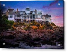 Acrylic Print featuring the photograph Cape Neddick Maine Scenic Vista by Shelley Neff