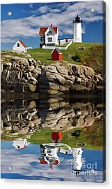 Cape Neddick Reflection - D003756a Acrylic Print by Daniel Dempster