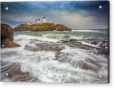 Cape Neddick Storm Acrylic Print by Rick Berk