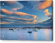 Acrylic Print featuring the photograph Cape Porpoise Harbor At Sunset by Rick Berk