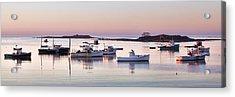 Cape Porpoise Harbor Panorama Acrylic Print