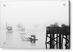 Cape Porpoise Lobster Boats In Fog Acrylic Print