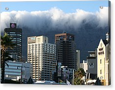 Cape Town - Smoking Mountain Acrylic Print by Andrei Fried