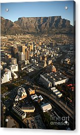 Cape Town From The Air Acrylic Print by Andy Smy