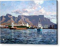 Cape Town Harbor Entrance Acrylic Print by Roelof Rossouw
