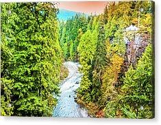 Capilano River, Vancouver Acrylic Print