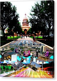 Capital Collage Austin Music Acrylic Print by James Granberry