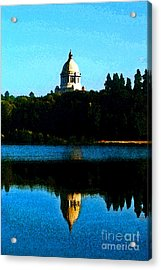 Acrylic Print featuring the photograph Capital Lake by Larry Keahey