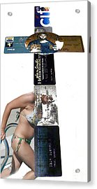 Capitalism Series3 Acrylic Print by Yucel Donmez