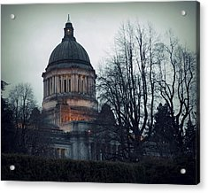 Capitol Aglow Acrylic Print by Patricia Strand