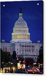 Capitol At Dusk Acrylic Print