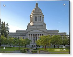 Capitol Building - East Side Acrylic Print by Larry Keahey