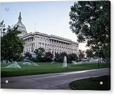 Capitol Hill Sprinklers Acrylic Print by Greg Mimbs