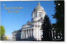 Capitol Acrylic Print by Larry Keahey