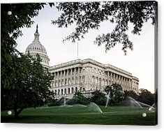 Capitol Lawn Acrylic Print by Greg Mimbs
