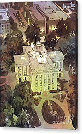 Acrylic Print featuring the painting Capitol Of Stupid- Raleigh, Nc by Ryan Fox