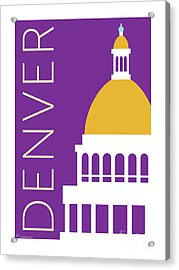 Denver Capitol/purple Acrylic Print