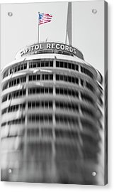Acrylic Print featuring the photograph Capitol Records Building 18 by Micah May