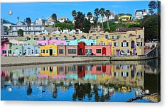 Capitola California Colorful Hotel Acrylic Print