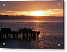 Acrylic Print featuring the photograph Capitola Day Begins by Lora Lee Chapman