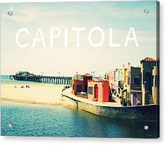 Capitola Acrylic Print by Linda Woods