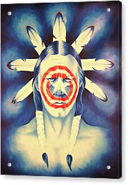 Cap'n Native America Acrylic Print by Robert Martinez