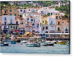 Capri Boat Harbor Acrylic Print