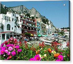 Capri Acrylic Print by Donna Corless