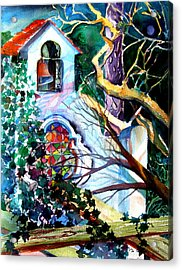 Capri Italy Chapel Acrylic Print by Mindy Newman