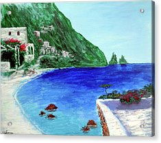 Capri Acrylic Print by Larry Cirigliano