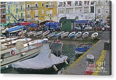 Capri Small Harbor Acrylic Print by Italian Art