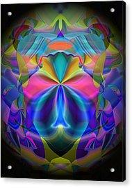 Acrylic Print featuring the digital art Caprice by Lynda Lehmann