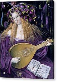 Capricorn Acrylic Print by Annael Anelia Pavlova