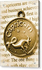 Capricorn Zodiac Lucky Charm Acrylic Print by Jorgo Photography - Wall Art Gallery