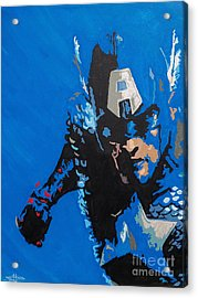 Captain America - Out Of The Blue  Acrylic Print by Kelly Hartman