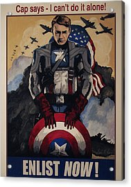 Captain America Recruiting Poster Acrylic Print