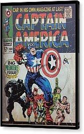 Captain America  Acrylic Print by Rob Hans