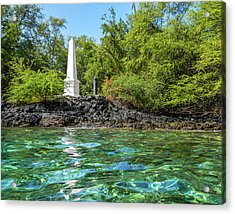 Acrylic Print featuring the photograph Captain Cook Monument by Denise Bird