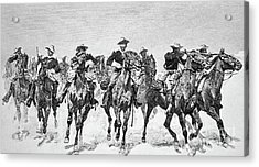 Captain Dodge's Troopers To The Rescue Acrylic Print by Frederic Remington