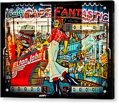 Captain Fantastic - Pinball Acrylic Print by Colleen Kammerer